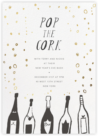 Uncorked - Mr. Boddington's Studio - New Year's Eve Invitations