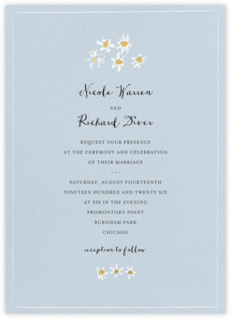 Better Daisies (Invitation) - Spring Rain - Mr. Boddington's Studio - Wedding Invitations