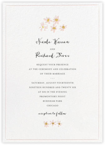 Better Daisies (Invitation) - White - Mr. Boddington's Studio - Wedding Invitations