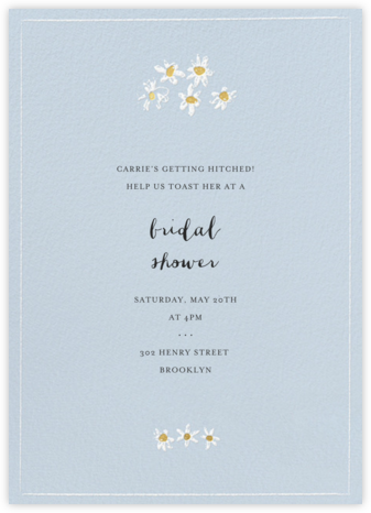 Better Daisies - Spring Rain - Mr. Boddington's Studio - Bridal shower invitations