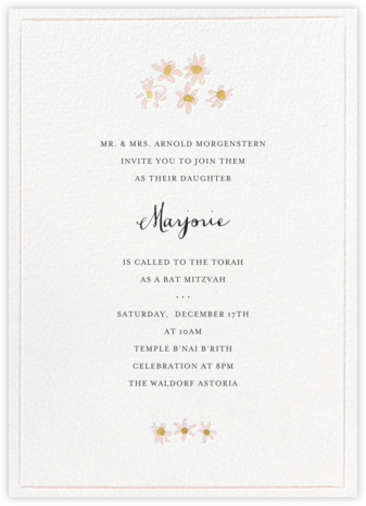 Better Daisies - White - Mr. Boddington's Studio - Bat and Bar Mitzvah Invitations