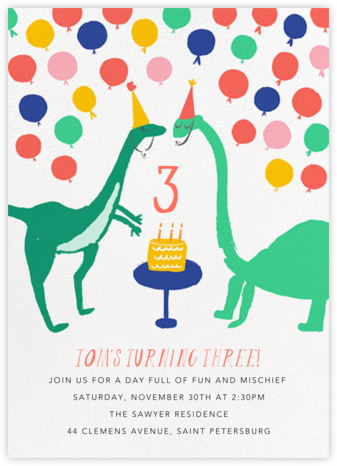 Neck and Neck - Mr. Boddington's Studio - Kids' Birthday Invitations