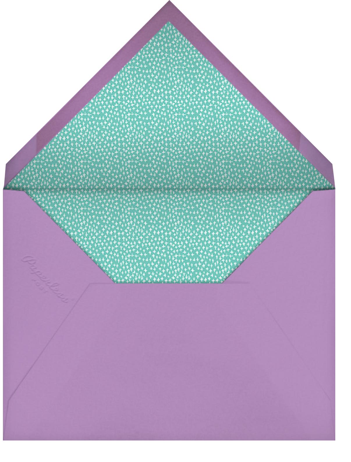 Bring your PJs - Mr. Boddington's Studio - Kids' birthday - envelope back