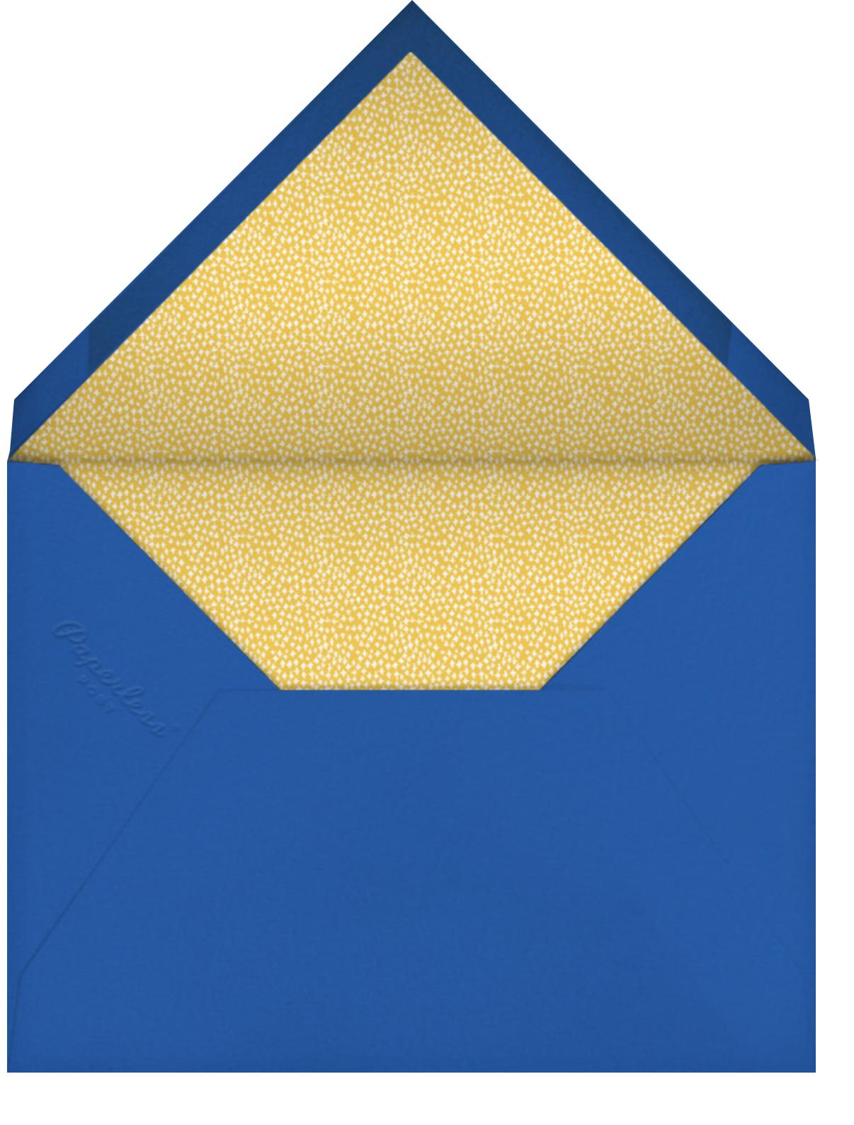 Looking Sharp - Mr. Boddington's Studio - 1st birthday - envelope back