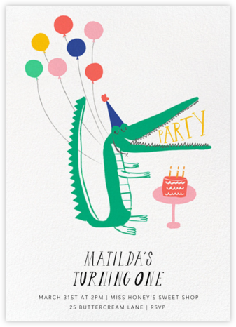 Looking Sharp - Mr. Boddington's Studio - First Birthday Invitations