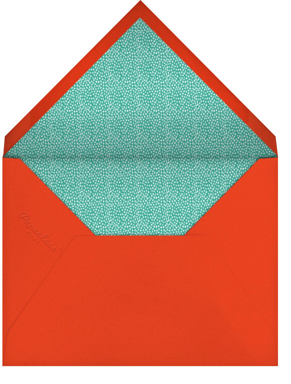 Hats on Parade - Mr. Boddington's Studio - Kids' birthday - envelope back