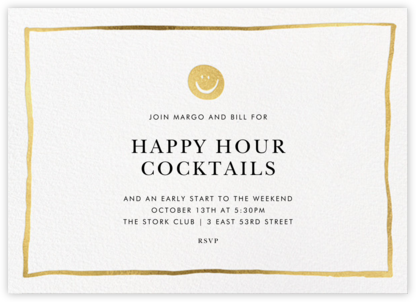 Golden Smiles  - Linda and Harriett - Happy Hour Invitations