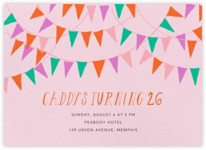 Mind Your Banners - Blush - Mr. Boddington's Studio - Adult Birthday Invitations