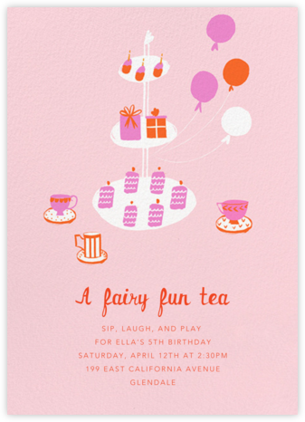 Sips and Sweets - Mr. Boddington's Studio - Kids' birthday invitations