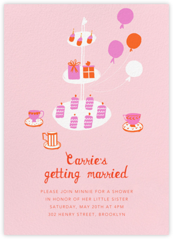 Sips and Sweets - Mr. Boddington's Studio - Bridal shower invitations