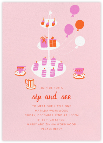 Sips and Sweets - Mr. Boddington's Studio - Baby Shower Invitations