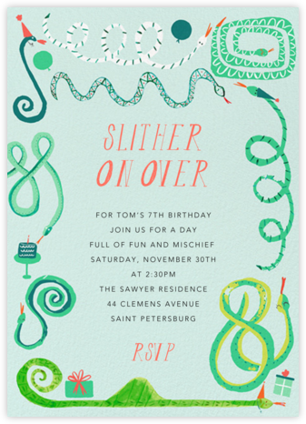 Birthday Wishesss - Mr. Boddington's Studio - Birthday invitations