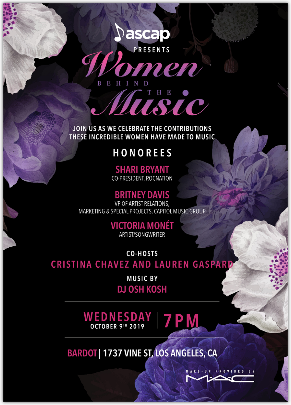 Enable images to view ASCAP Presents: Women Behind the Music 2019