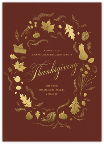 Golden Harvest - Paperless Post - Thanksgiving Cards