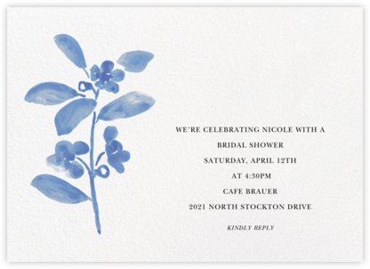 Watercolor Bloom - Antwerp - Linda and Harriett - Bridal shower invitations