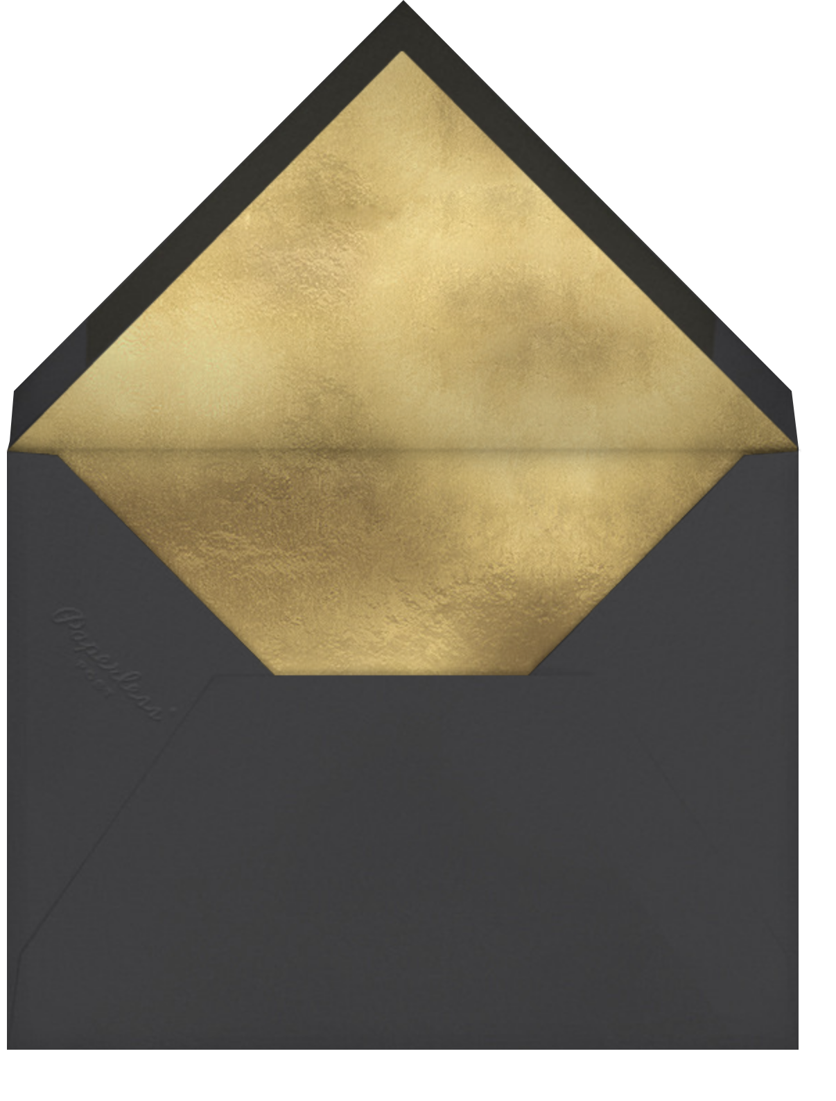 Pure Gold - Hello!Lucky - Graduation thank you cards - envelope back