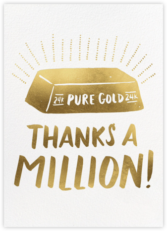 Pure Gold - Hello!Lucky - Online Thank You Cards