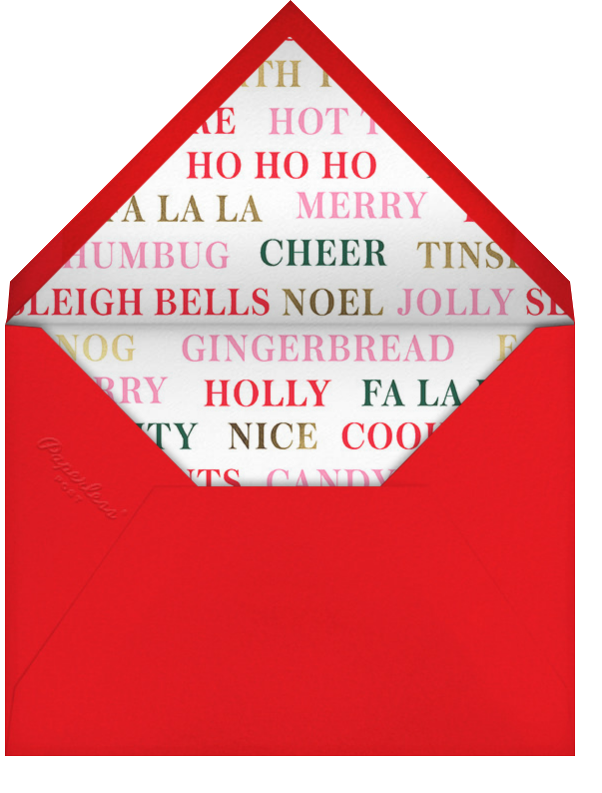 Peppermint Stripe - White - kate spade new york - Holiday cards - envelope back