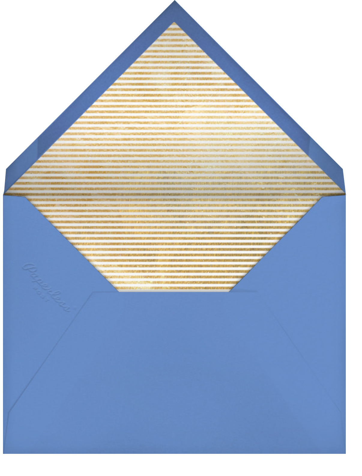 Peppermint Stripe - Indigo - kate spade new york - Hanukkah - envelope back