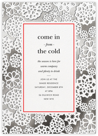 Paper Snowflakes - kate spade new york - Holiday invitations