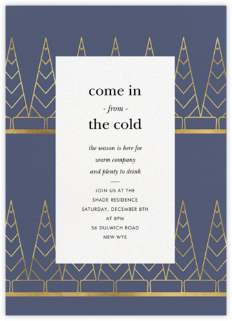 Deco Trees (Tall) - Cadet - kate spade new york - Holiday invitations