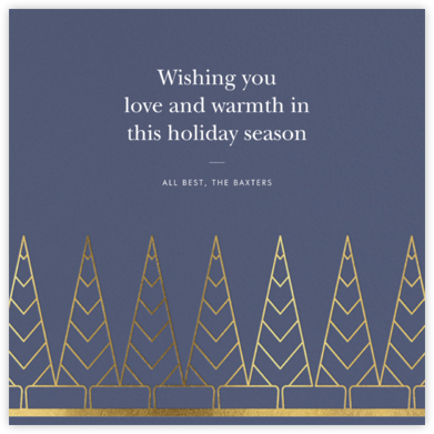 Deco Trees (Square) - Cadet - kate spade new york - Holiday Cards