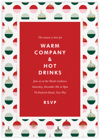 Dipped Ornaments - kate spade new york - Holiday invitations