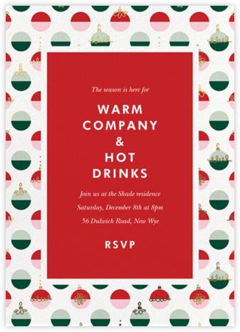 Dipped Ornaments - kate spade new york - Christmas invitations