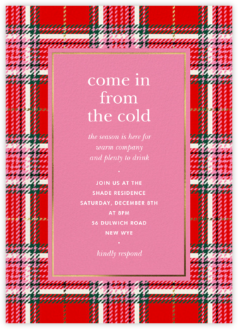 Holiday Plaid - kate spade new york - Holiday party invitations