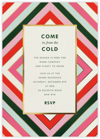 Mod Stripes - kate spade new york - Holiday party invitations