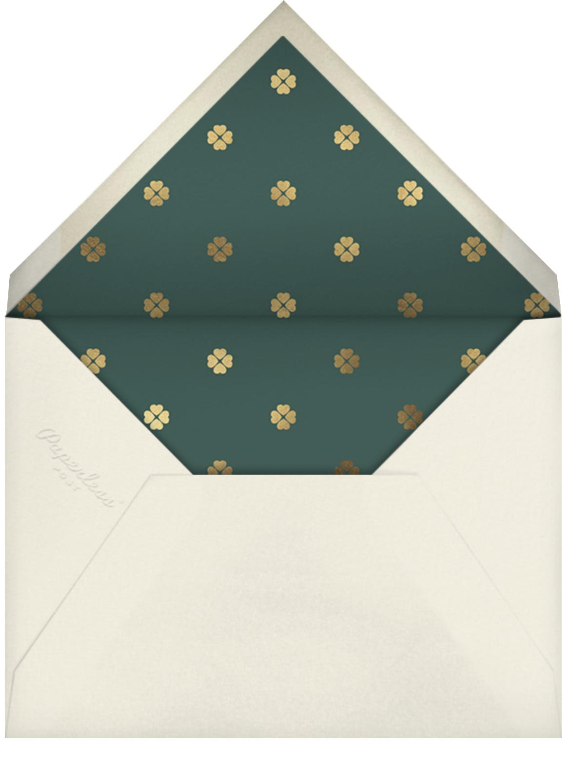 Tree Tessellation - kate spade new york - Christmas party - envelope back