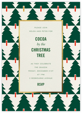 Tree Tessellation - kate spade new york - Kate Spade invitations, save the dates, and cards