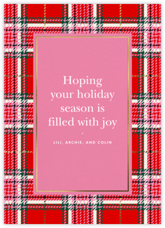 Holiday Plaid - kate spade new york - Holiday cards