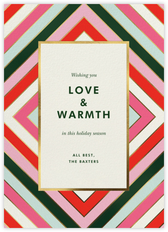 Mod Stripes - kate spade new york - Holiday Cards