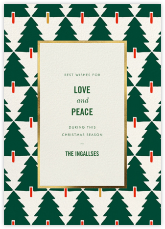 Tree Tessellation - kate spade new york - Holiday Cards