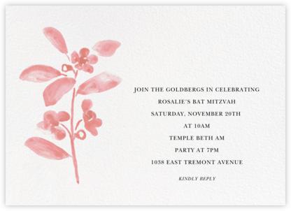 Watercolor Bloom - Blossom - Linda and Harriett - Bar and Bat Mitzvah Invitations