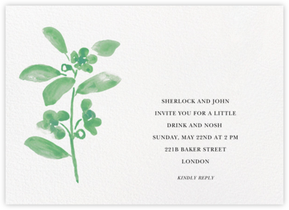 Watercolor Bloom - Kelly - Linda and Harriett - Dinner Party Invitations