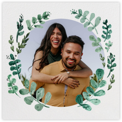 Eucalyptus Sprigs - Linda and Harriett - Engagement party invitations