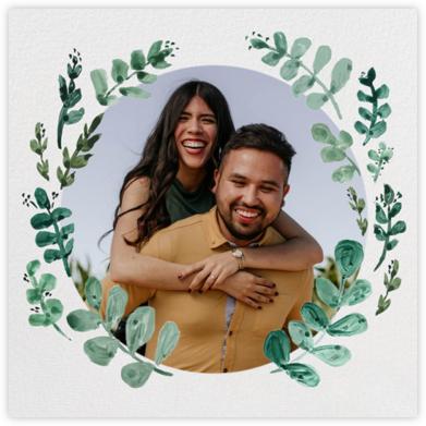 Eucalyptus Sprigs - Linda and Harriett - Engagement party invitations