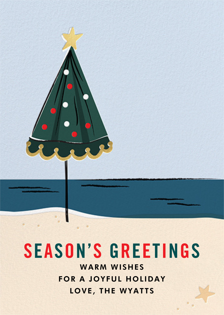 On Holiday (Greeting) - Cheree Berry - Holiday cards