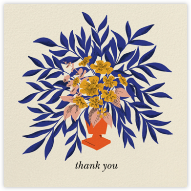 Bold Bouquet (Dylan Mierzwinski) - Red Cap Cards - Graduation Thank You Cards