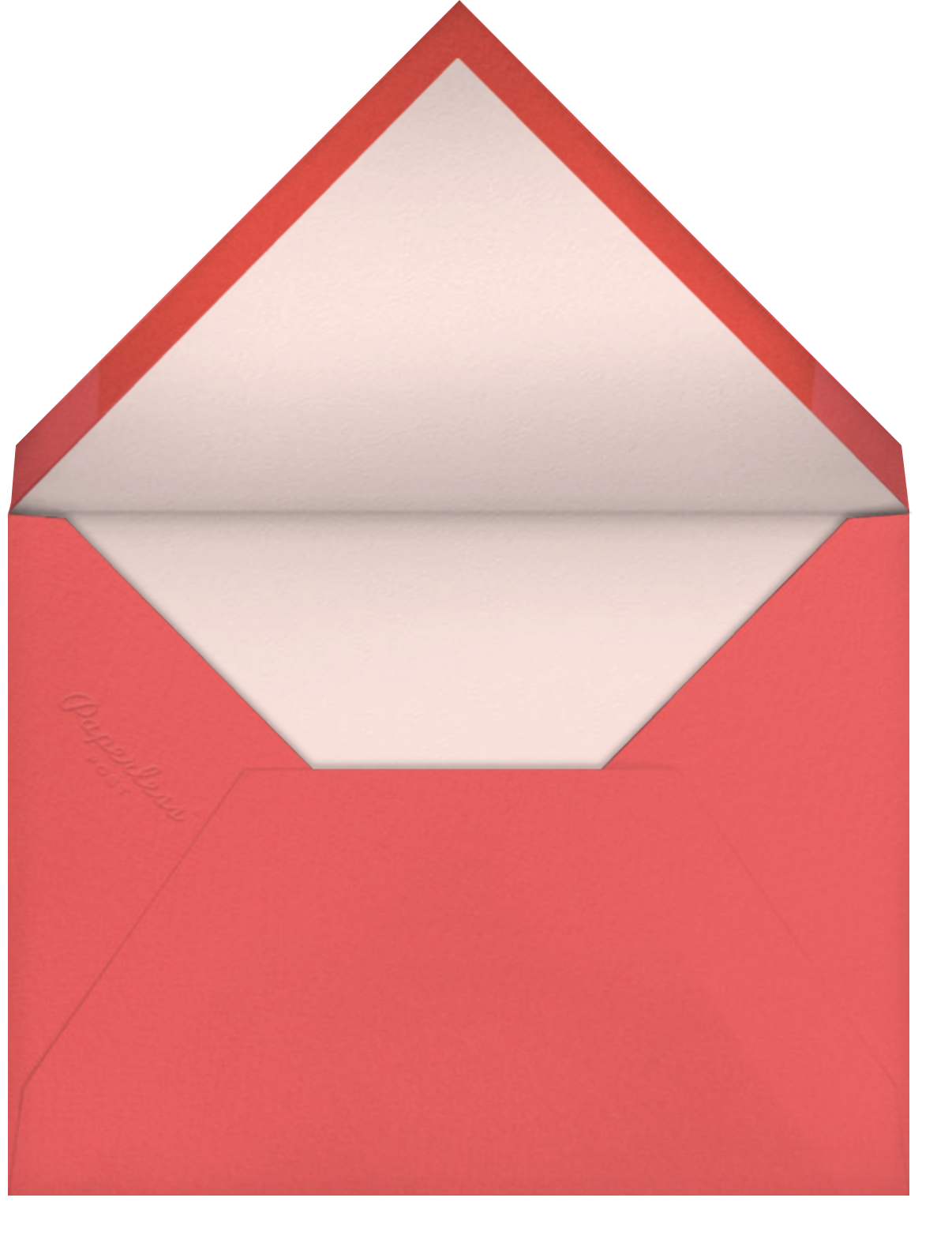 Flower Cones (Square) (Dylan Mierzwinski) - Red Cap Cards - Thank you - envelope back