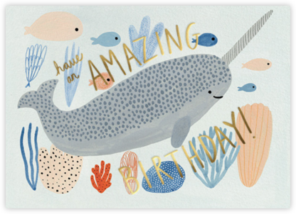 Narwhal Birthday (Kate Pugsly) - Red Cap Cards - Red Cap Cards