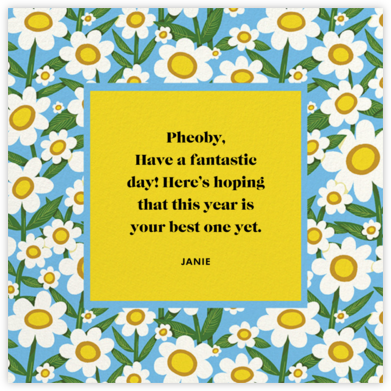 Happy Daisies (Krista Perry) - Red Cap Cards -