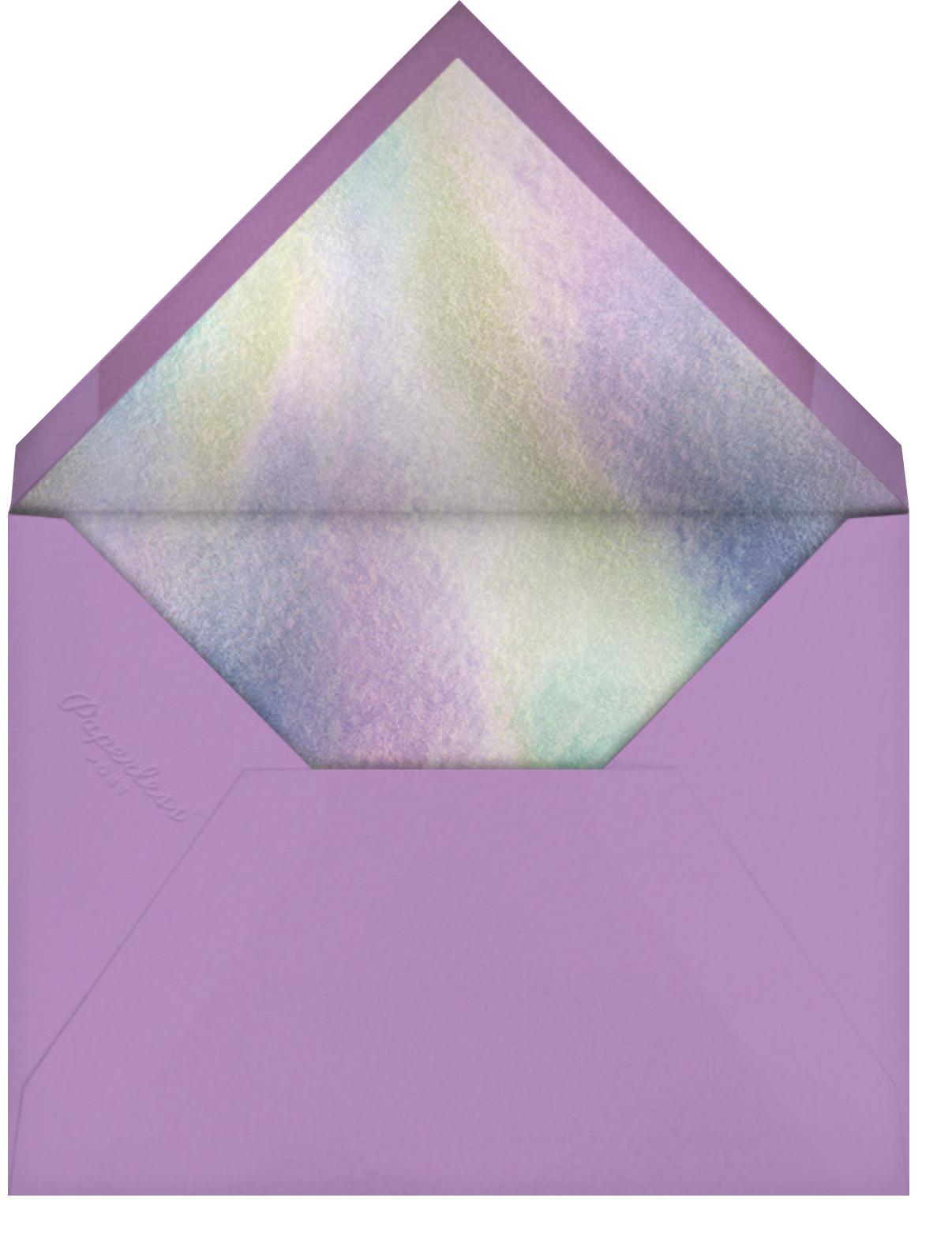 Rainbow Sun (Horizontal) (Nolan Pelletier) - Red Cap Cards - Birthday - envelope back