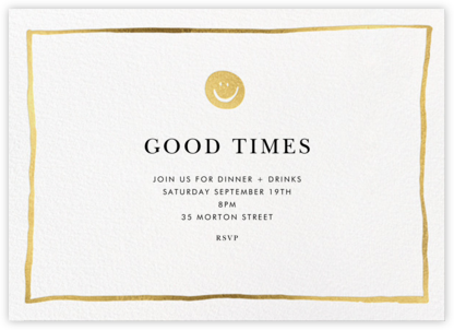Golden Smiles - Linda and Harriett - Business Party Invitations