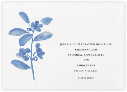 Watercolor Bloom - Antwerp - Linda and Harriett - Baby shower invitations