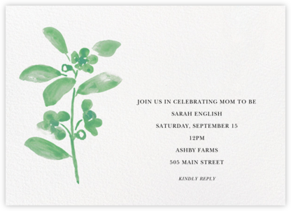 Watercolor Bloom - Kelly - Linda and Harriett - Baby Shower Invitations