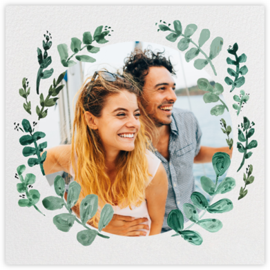 Eucalyptus Sprigs - Linda and Harriett - Wedding Save the Dates