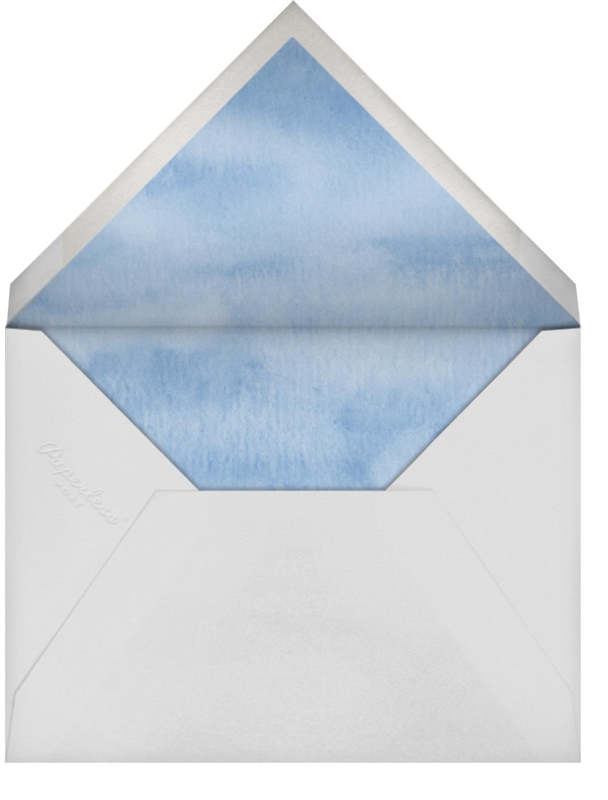 Watercolor Rainbow - Linda and Harriett - Kids' birthday - envelope back
